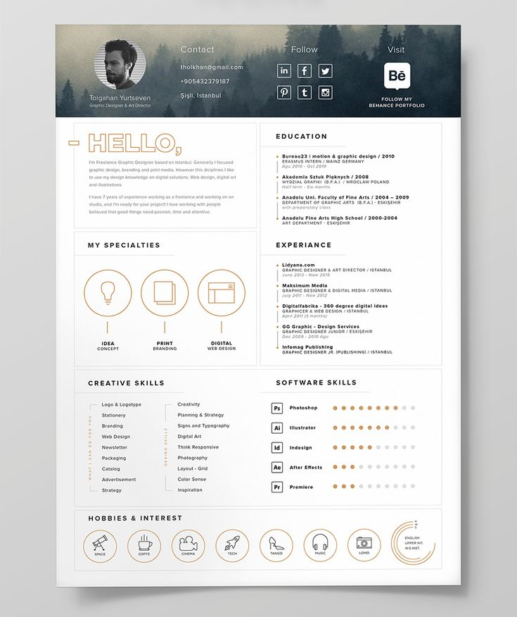 free resume template   icon