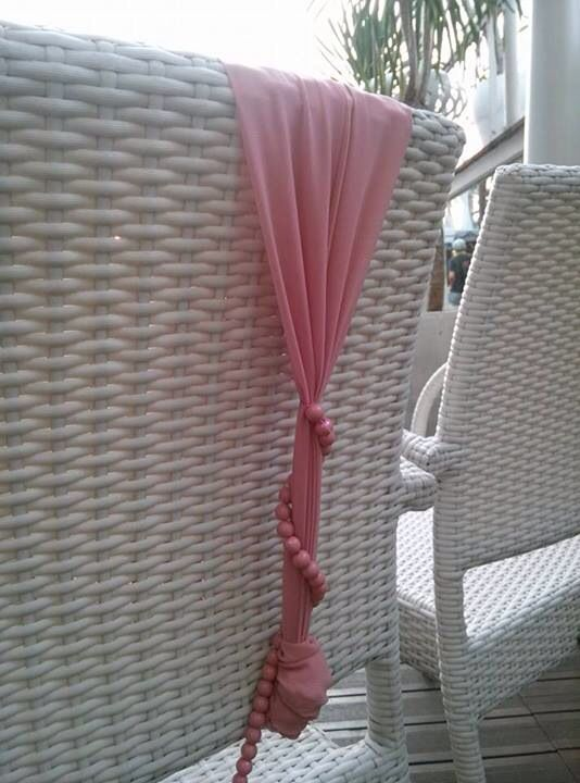 Artificial pearl and creative chair ribbon idea, lux private concert at The Edge Kemang Icon, decor by infinita.
