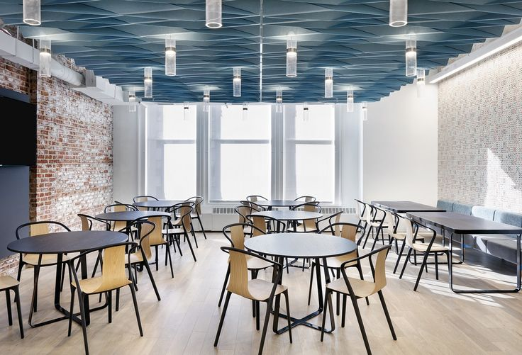 AvroKO Designs a Workplace Cafeteria for Dropbox Workplace - innovatives decken design restaurant