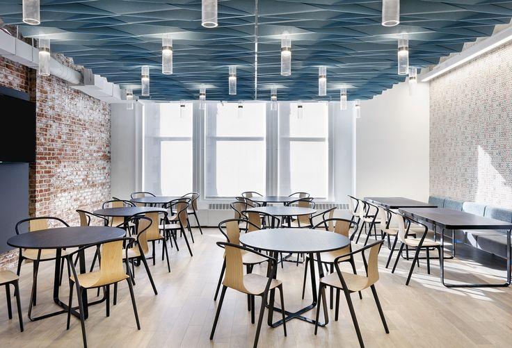 AvroKO Designs a Workplace Cafeteria for Dropbox Workplace - innovatives decken design restaurant