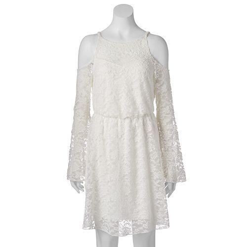 $39 Kohls Juniors' Almost Famous Lace Cold-Shoulder Dress