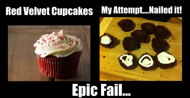 red velvet cupcakes... Nailed it!