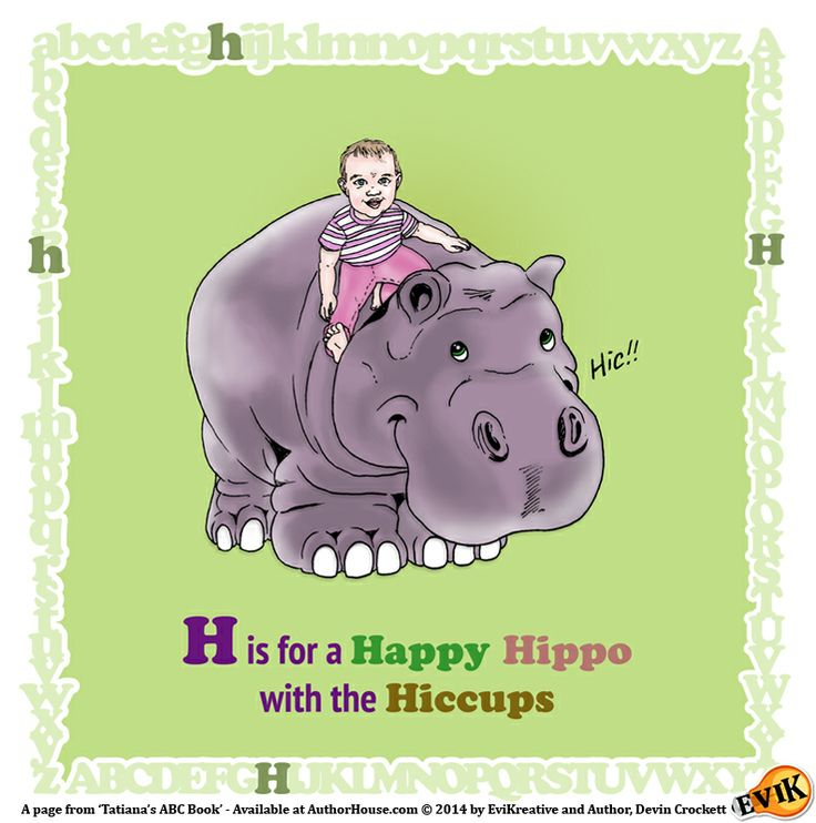 """H is for a Happy Hippo with the Hiccups"" Preview Page from Tatiana's ABC Book - On sale now at AuthorHouse.com: lnkd.in/dyweh4e"