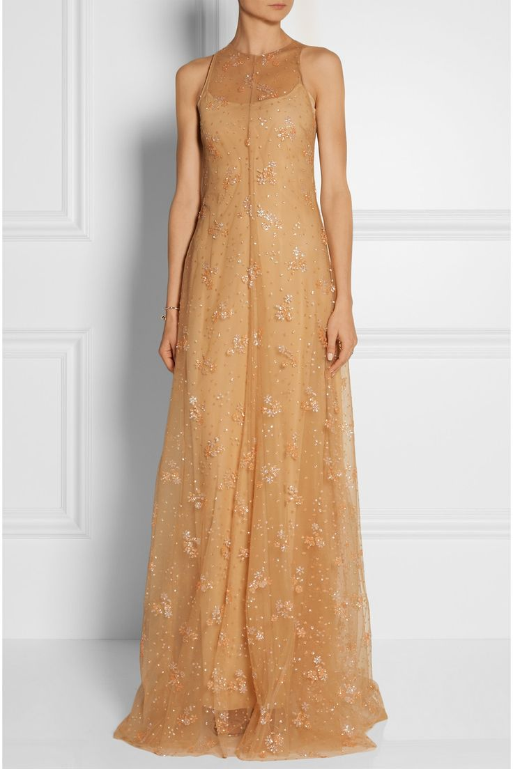 Mary Katrantzou | Glitter-embellished tulle gown | NET-A-PORTER.COM