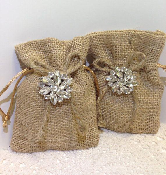 wedding favors / Burlap wedding favor bags set by ElianasTreasures, $60.00