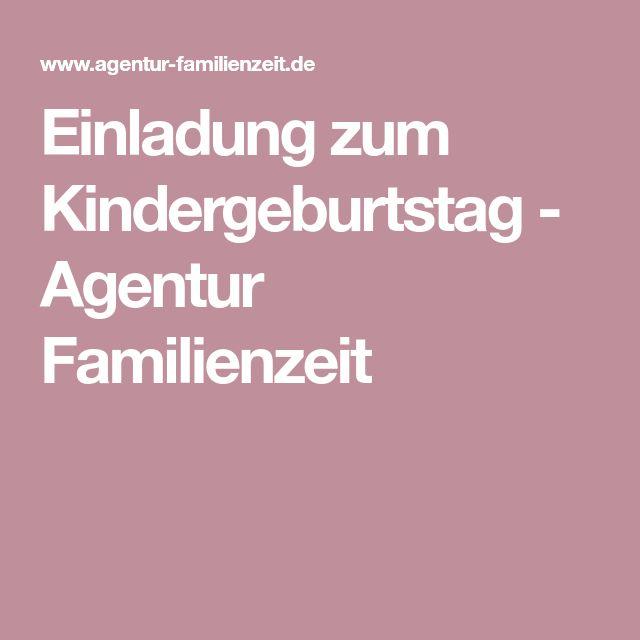 Einladung zum Kindergeburtstag - Agentur Familienzeit