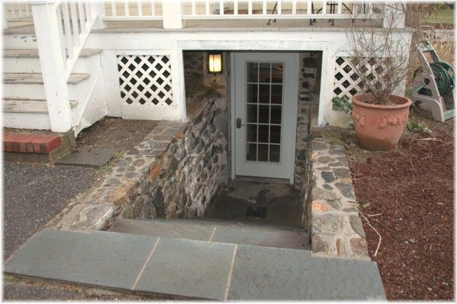 Diy walkout basement door walkway walkout basement for Adding exterior basement entry