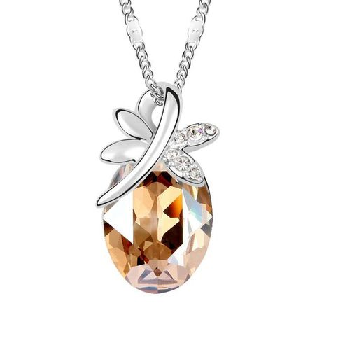Women's Fashion Jewelry Butterfly Shiny Crystal pendant Necklace