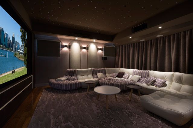 #homecinema Indulgent home cinema - St Ives House