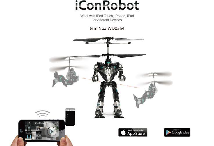 Robot de combate Woddon WD0554i. Teledirigido por dispositivos iOS y Android