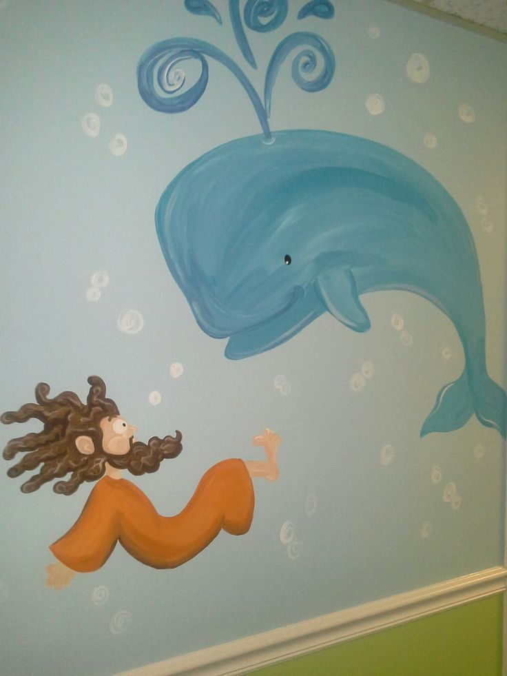 Jonah And The Whale Wall Mural Kidproof And Aproved