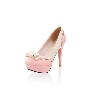 Patent Leather Women's Stiletto Heel Platform Round Toe Pumps Shoes (More Colors)  – USD $ 21.38