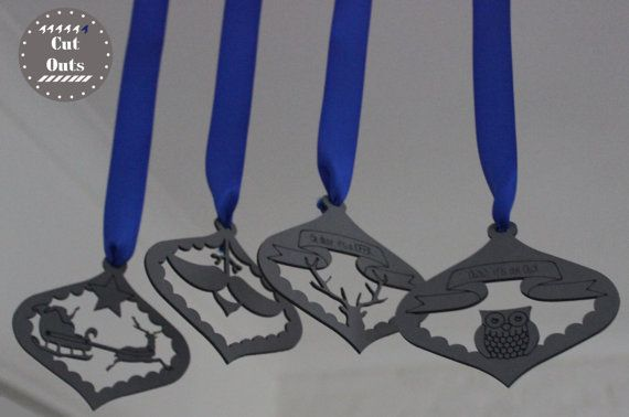 pack of four adorable ornaments...can be hanged on a Christmas tree, window, door or anywhere else you can think of...