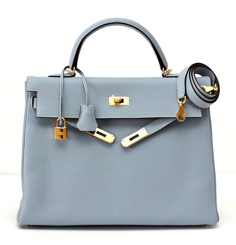 HERMES KELLY 35 Supple Bag Coveted ETOUPE w/ GOLD | Hermes Kelly ...