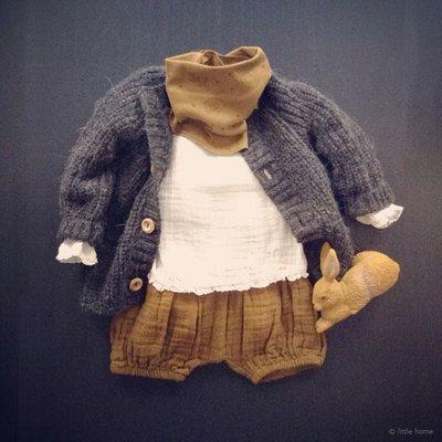 Baby clothes Bloomer – Ocher brown sugar ORGANI …