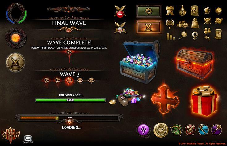 Dungeon Hunter 3 In-game assets by Panperkin.deviantart.com on @deviantART