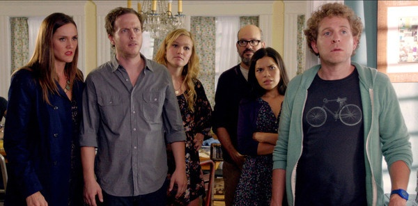"The ""It's a Disaster"" cast includes (l-r) Marin native Erin Hayes, Blaise Miller, Julia Stiles, David Cross, America Ferrera and Jeff Grace."