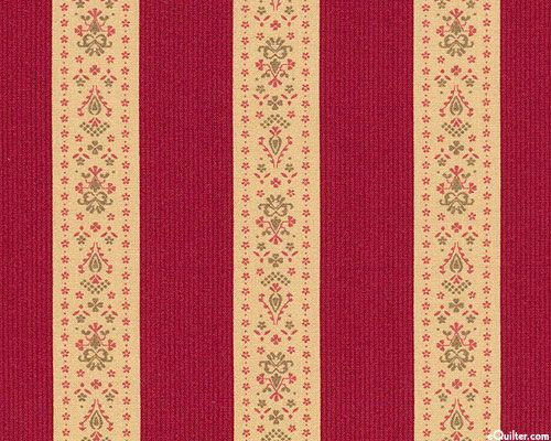 Mille Couleurs - French Ticking Stripe - Cinnamon Red