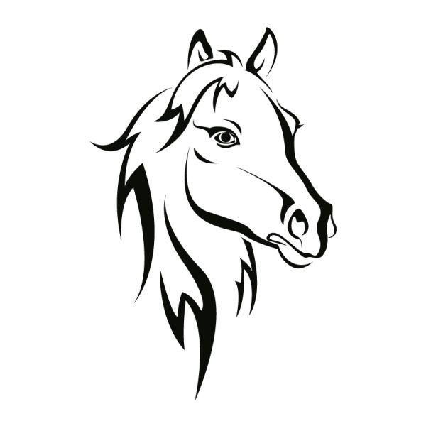 die besten 25 pferde silhouette ideen auf pinterest. Black Bedroom Furniture Sets. Home Design Ideas