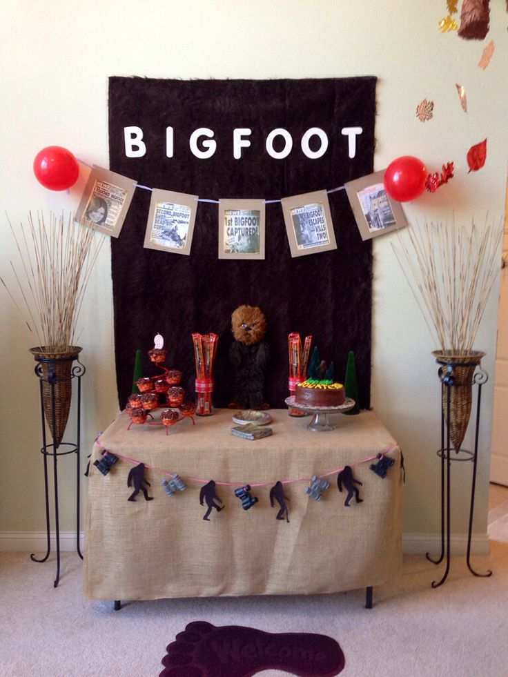 Our Bigfoot Birthday Party ~Julie