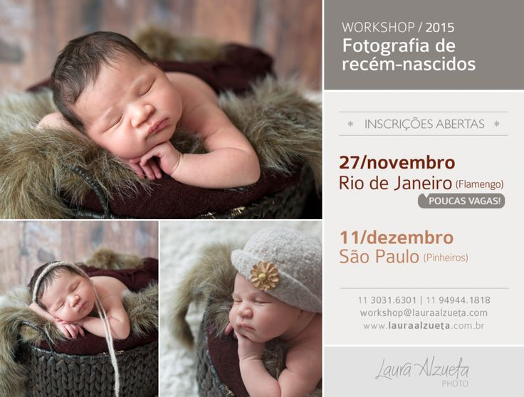 workshop de fotografia newborn: próximas edições em nov no RJ e em dezembro em SP!