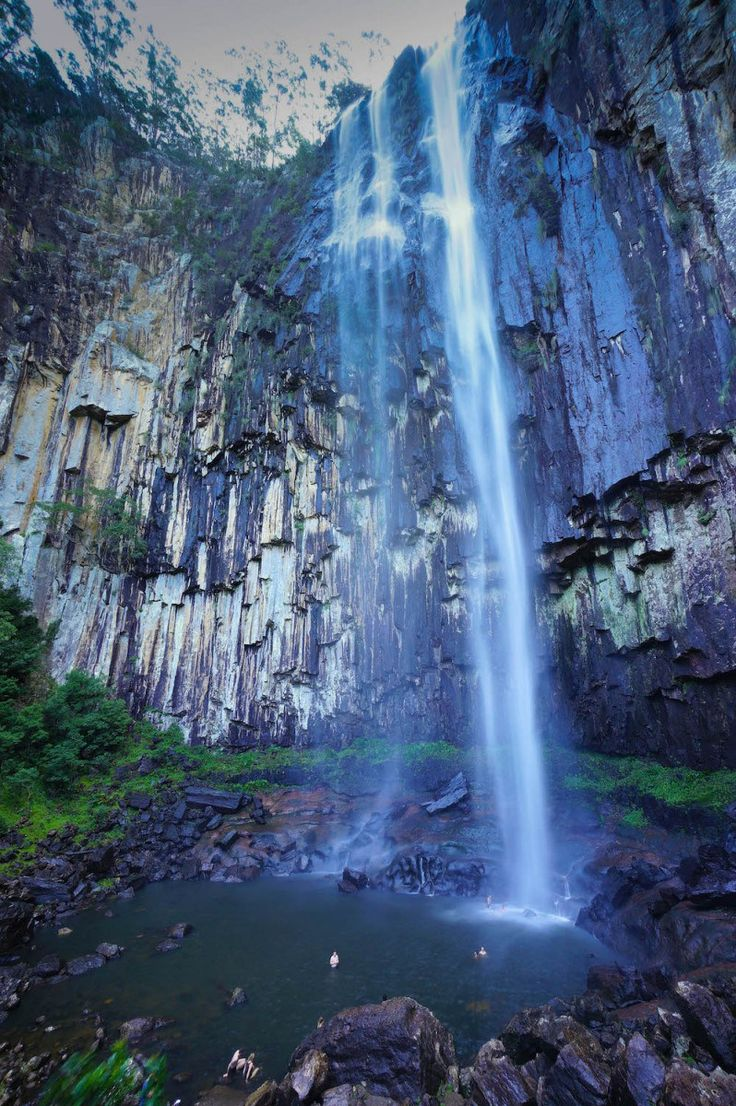 At Minyon Falls in Nightcap National Park you will experience is the immense power of a 100 m waterfall and a chance to swim at the base of the falls.