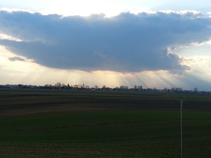 Spring storm cloud - view from dinning room