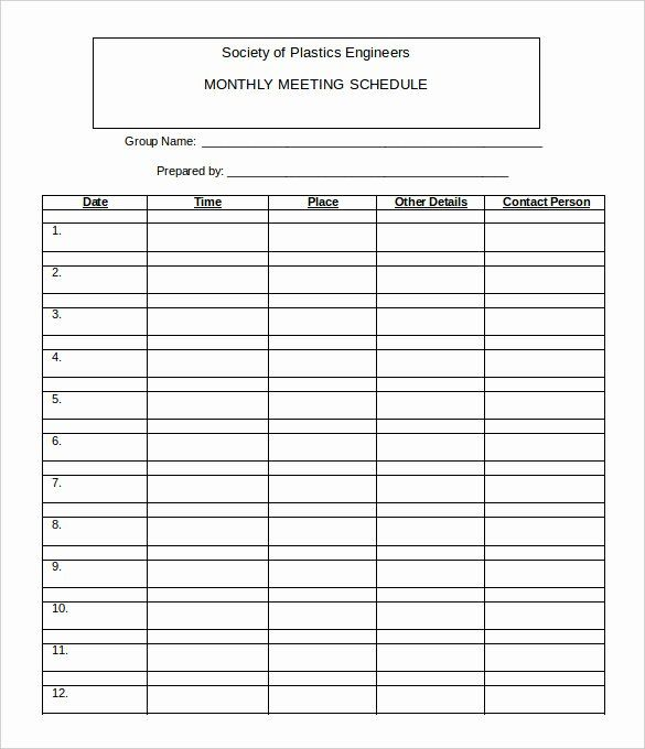 40 Monthly Schedule Template Excel Schedule Template Monthly