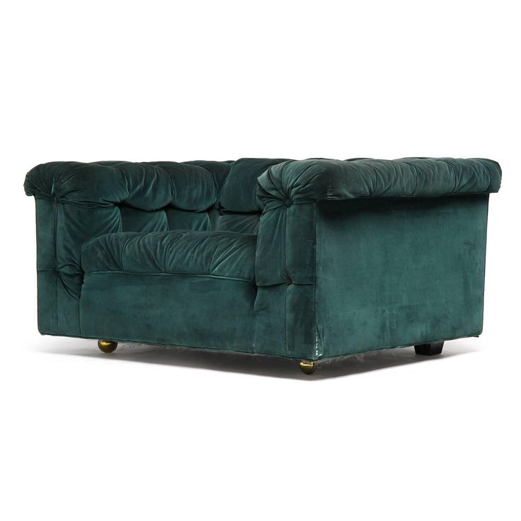 Chesterfield Lounge Chair by Edward Wormley for Dunbar For Sale at 1stdibs