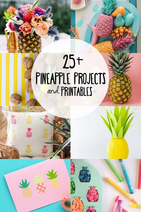 25+ DIY Pineapple Projects and Printables for you to enjoy! www.livelaughrowe.com #pineapples