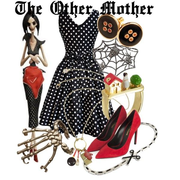 """The Other Mother (the Beldam) from Coraline"" by likeghostsinthesnow on Polyvore"