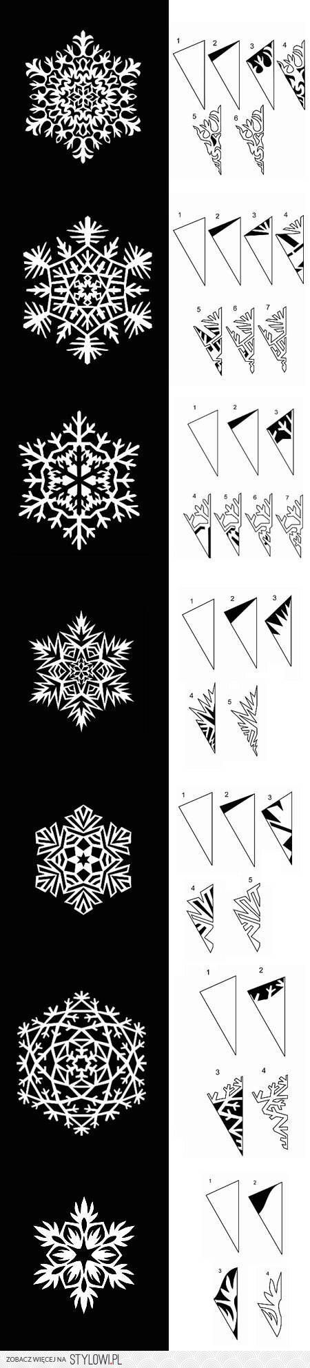DIY Paper Snowflakes Templates DIY Projects | UsefulDIY… na Stylowi.pl