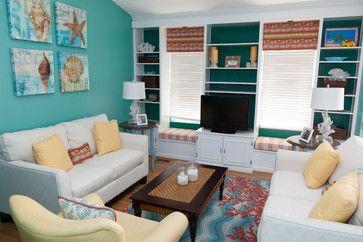 love the colors!!!!  Ocean Living Room - tropical - living room - dc metro - Patty Lustig - Decor & You