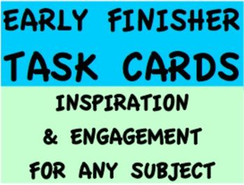 clothes online shopping EARLY FINISHER TASK CARDS BUNDLE  Your early finishers in any subject or grade now have meaningful  arguably life altering  prompts to keep them engaged every second of class   There are 50 Task Cards in this bundle in full page and task card  1 4 page  format   These early finisher task cards promote motivation  inspiration  integrity  self reflection  creative and persuasive writing  critical thinking  problem solving  etc   earlyfinisheractivities