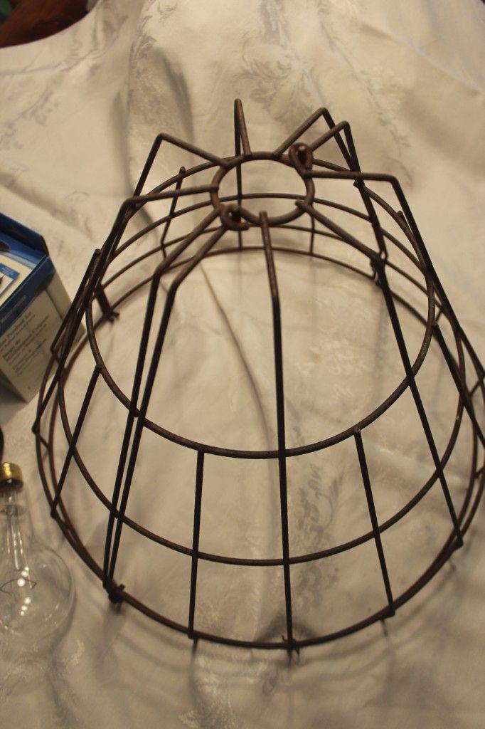 Diy Wire Basket Light Fixture Diy Farmhouse Light