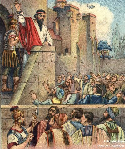 Acts 22 Bible Pictures: Paul speaks to the crowd