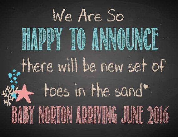 Pregnancy Beach Announcement, Beach Baby Announcement, Baby Reveal, Photo Prom, Sand Reveal, Baby Reveal Chalk Board,