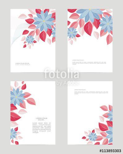 Вектор: Templates A4 form, decorative flowers