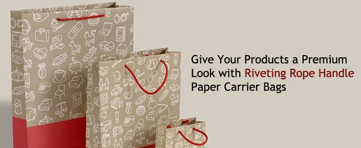 Give Your Products a Premium Look with Riveting Rope Handle Paper Carrier Bags  More:- https://www.carrierbagsforsale.co.uk/rope-handle-paper-carrier-bags.html