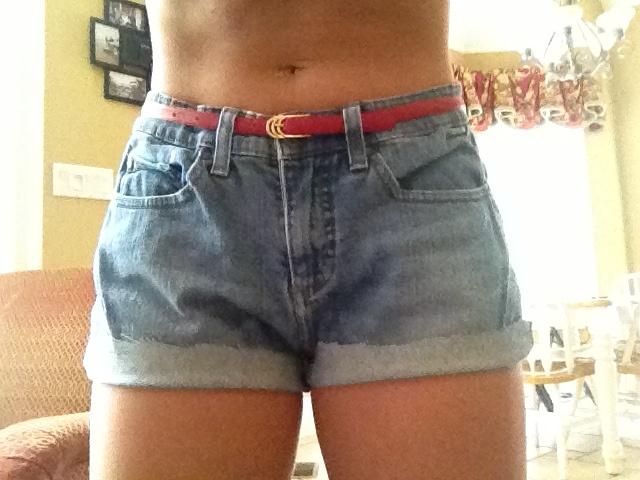Cute homemade jean shorts