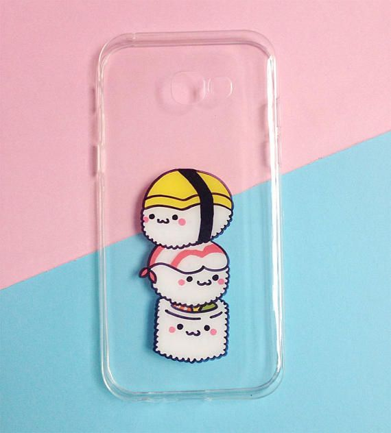 ♥ Hand painted sushi phone cases ♥ All cases will be made to order ♥ This design is individually hand-painted using special permanent acrylic paints onto crystal clear plastic. It is then finished with two coatings of varnish to ensure maximum durability. - The design is painted on the inside of the case so the paint cannot be affected. - If you love the design, but dont see your phone model in the list, please contact us. We are always able to order in cases for any phone at no extra cos...