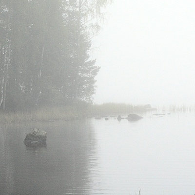 Finland, Lake and Fog