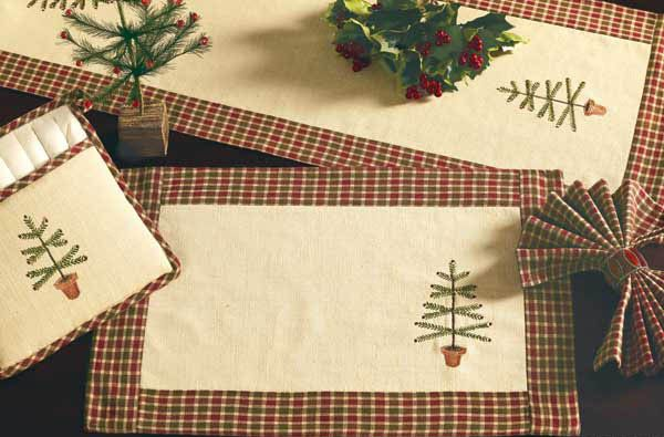 The Country Porch Features The Feather Tree Christmas Decorating Theme From India Home Fashio Christmas Placemats Christmas Themes Decorations Christmas Sewing