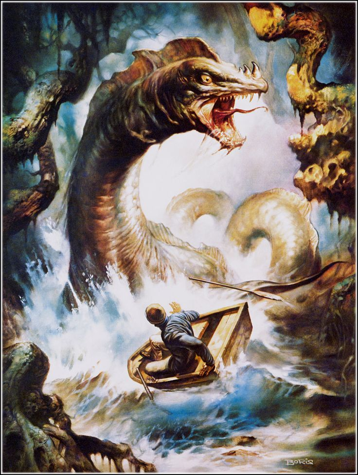 Wallpaper Girl With The Dragon Tattoo Boris Vallejo The Loch Ness Monster Lives Jpg 800 215 1 061