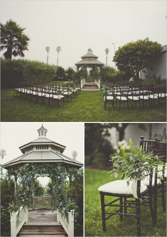 outdoor wedding gazebo ceremony #weddingvenue #weddingceremony #weddingchicks http://www.weddingchicks.com/2014/02/17/enchanting-rainy-day-wedding/