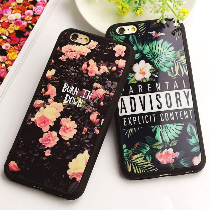 Luxury Fashion Mirror Case For iphone 7 7 Plus 6s 6 Plus SE 5 5s Fashion Flower Soft Silicon Funda For Iphone Carcasa Fundas