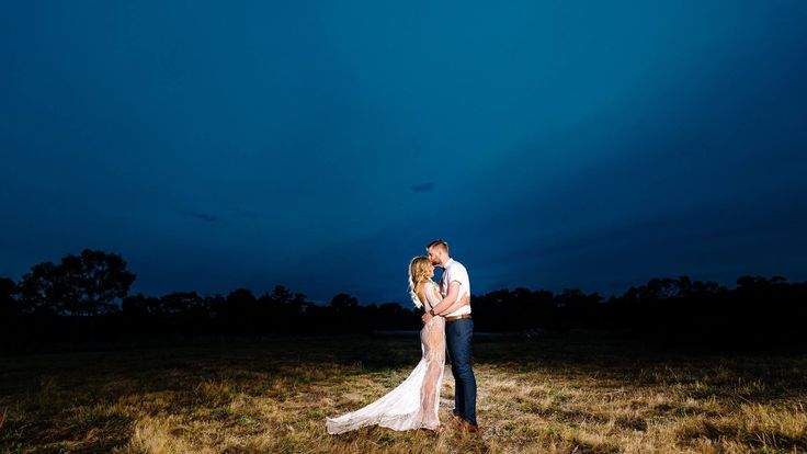 Bride & groom night shots