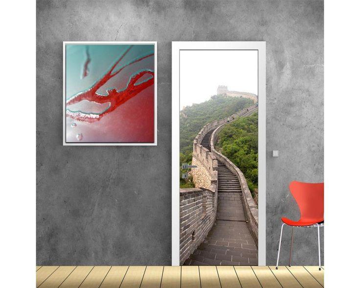 Σινικό τοίχος, αυτοκόλλητο πόρτας , δείτε το!