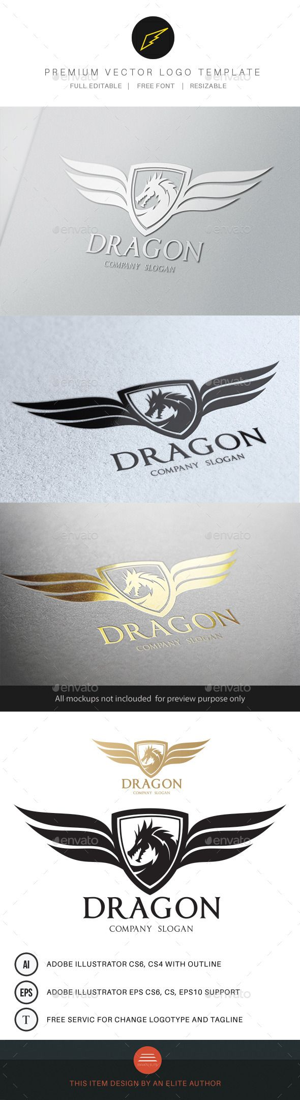 Dragon — Vector EPS #fashion #china • Available here → https://graphicriver.net/item/dragon-/9597945?ref=pxcr