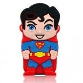 3D Stylish Superman Soft Silicone Case Skin Cover for iPhone 4/4S/5